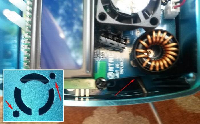 Imax B6AC mini v2 прикручиваем вентилятор