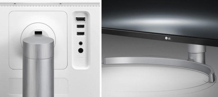 LG 34WK650 интерфейсы, подставка