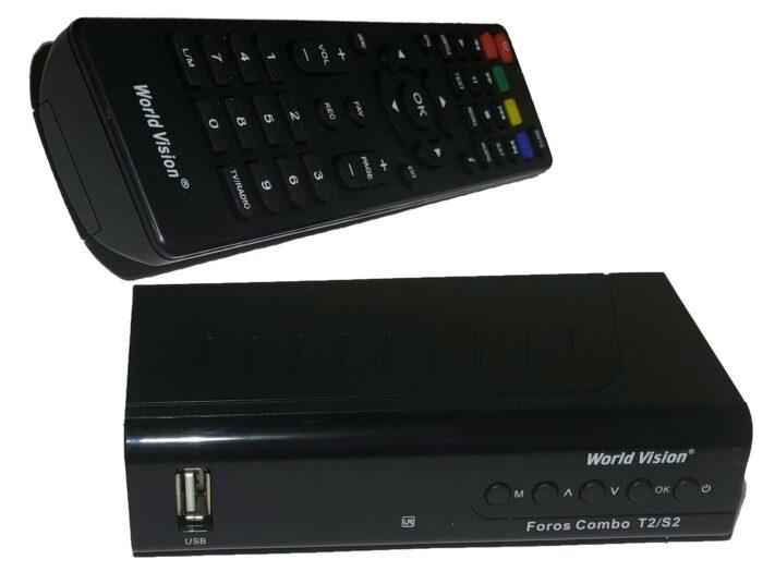 World Vision Foros Combo T2/S2 - универсальный цифровой ресивер