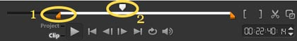 Corel VideoStudio X9 обрезка видеоклипов