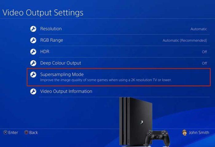 Настройка суперсэмплинга на PS4 Pro