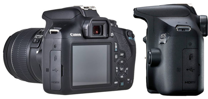 Canon EOS 2000D интерфейсы