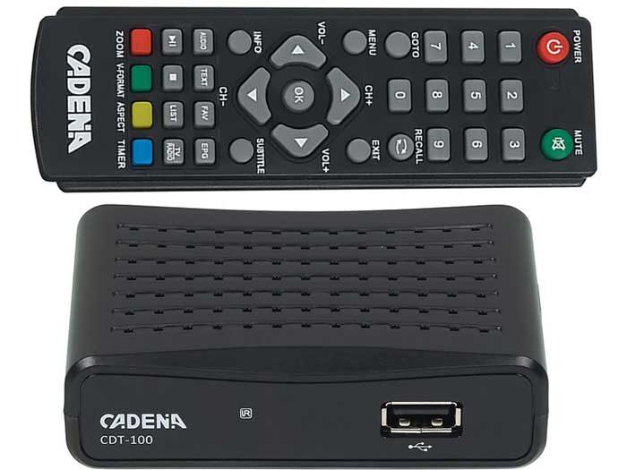 Cadena CDT-100 - TV-тюнер DVB-T2 по бюджетной цене