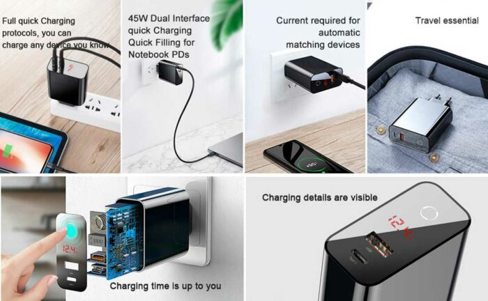 Baseus Speed PPS Smart Shutdown & Digital Display Quick Charger 45W