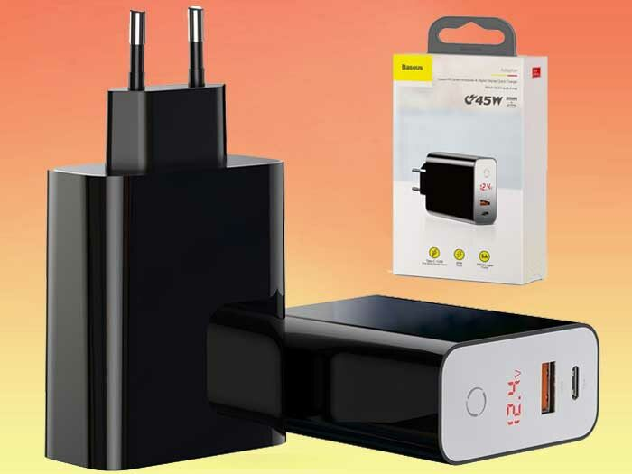 Baseus Speed PPS Smart Shutdown 45W - скоростное зарядное устройство