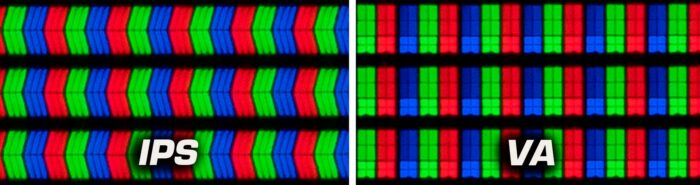 IPS и VA - структура пикселей