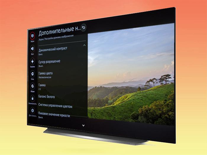 Как настроить телевизор LG CX