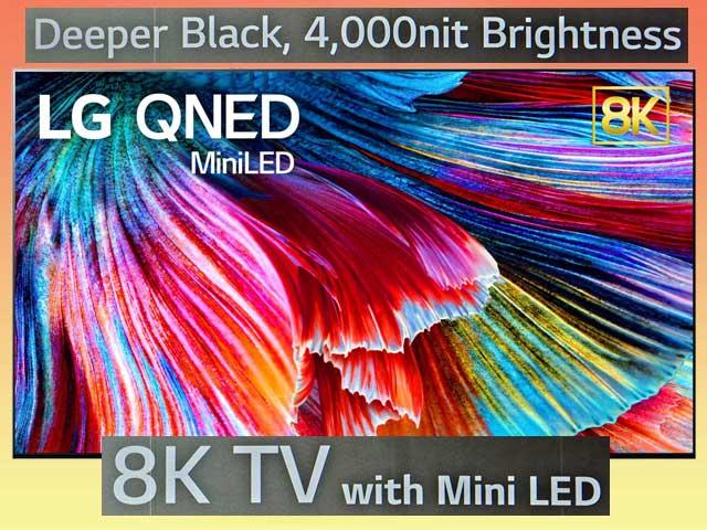 LG QNED с Mini LED и 8K на выставке CES 2021