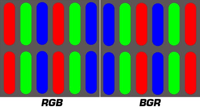 RGB vs  BGR - структура